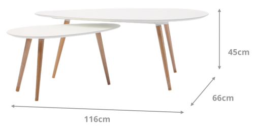 Alfonso Coffee Table Set Dimensions