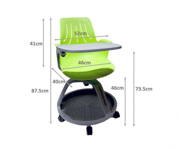 CLASSROOM CHAIR WITH UNDER SEAT STORAGE DIMENSIONS