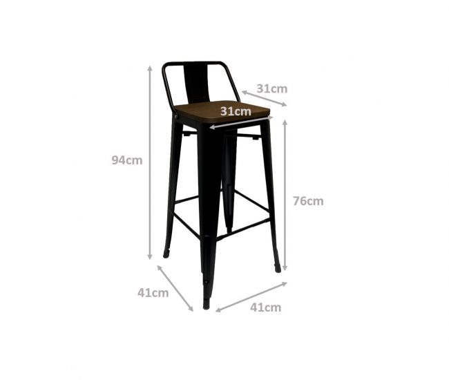 Bar Stool with Backrest Dimension